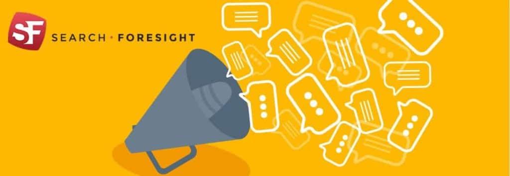 Bannière de la newsletter SearchForesight