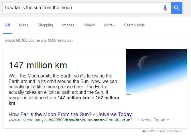 Réponse directe US - Sun to Moon