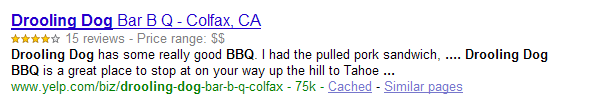 Rich snippets de google