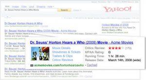 Yahoo! Search Monkey premier pas microdonnees