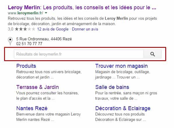 Sitelinks-Search