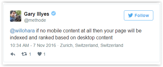 Contenu desktop mobile friendly