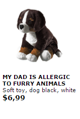 ikea my dad is allergic to furry animals