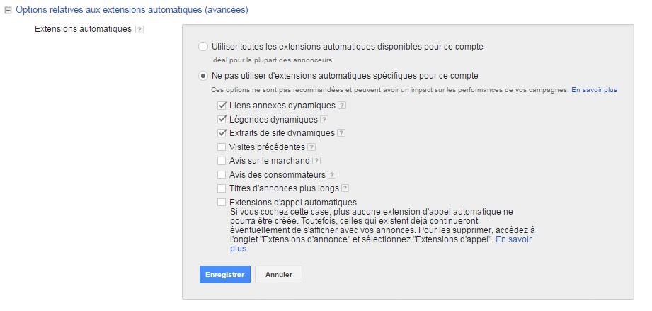Extension automatique