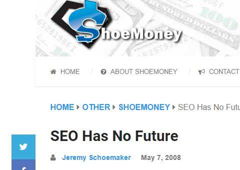 Déjà en 2008, le SEO semblait promis à un avenir incertain ! ;-)