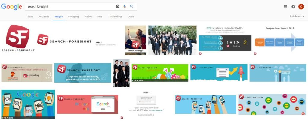 Search Foresight dans Google Images