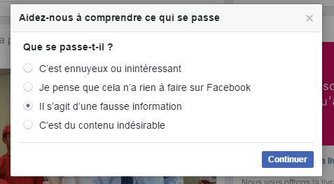 fake news signalement facebook