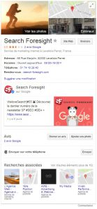 Google my business search foresight