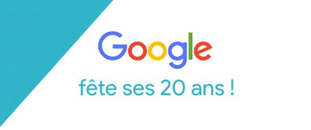 google 20 ans