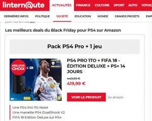 black friday linternaute