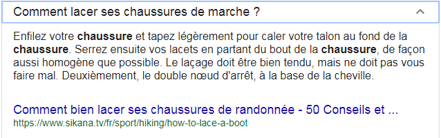 exemple de paa lacer ses chaussures SERP