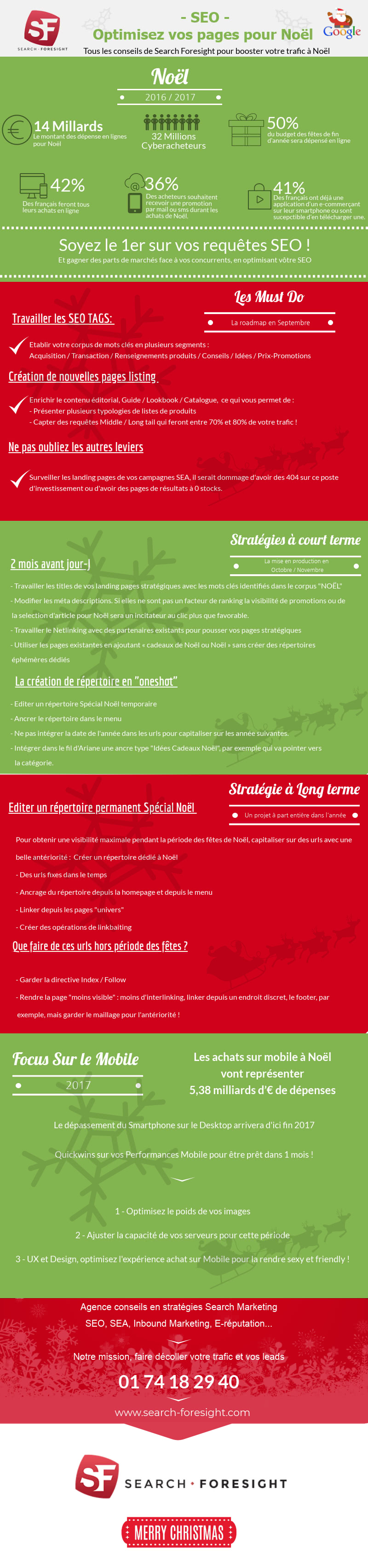 Infographie Noël Search Foresight
