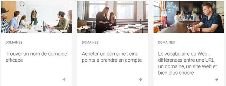 Ressources pédagogiques de Google Domains