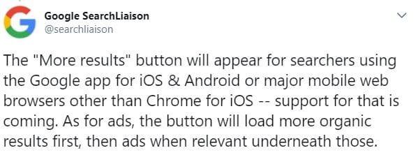 Tweet Google Liaison