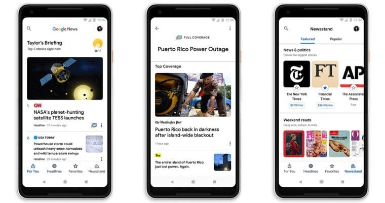 Google News Mobile Appearance