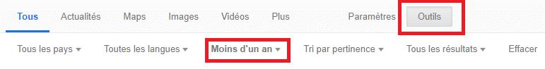 outils google moteur
