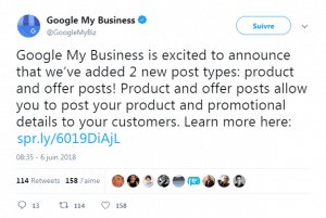 communication officielle google my business