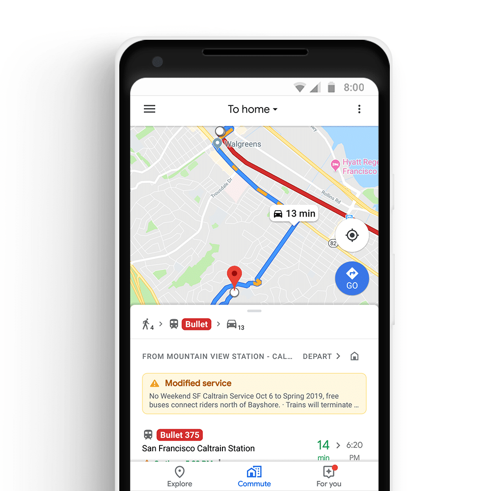 transport multimodal google maps search foresight