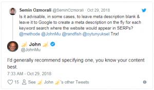 John mueller meta description