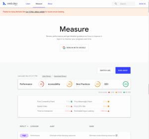 web.dev measure