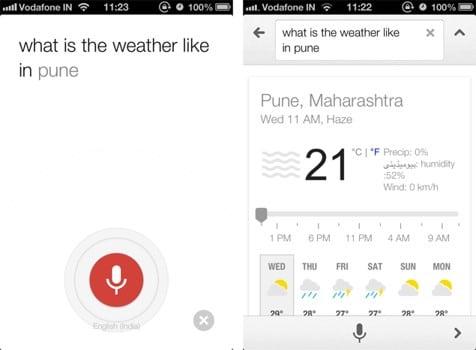 interface requête vocale météo