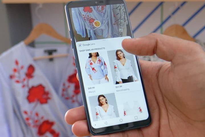 utilisation sur mobile de Google Lens