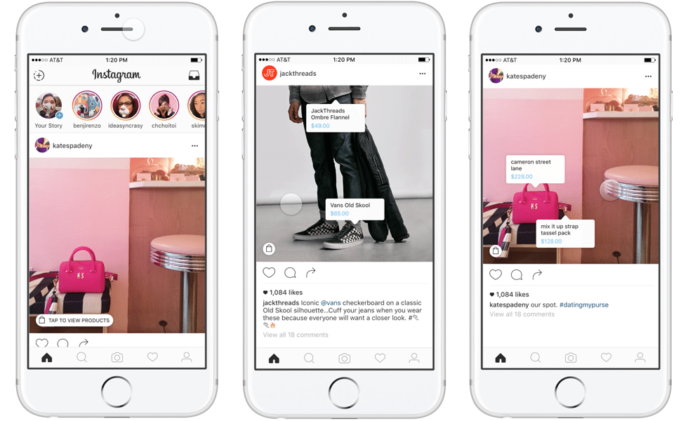 Shoppable Ads sur Instagram