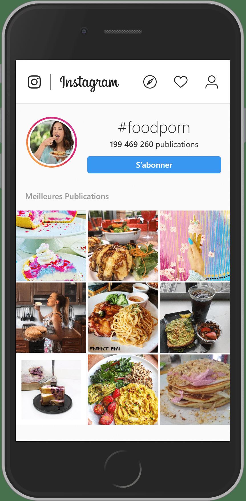 landing instagram du hashtag foodporn